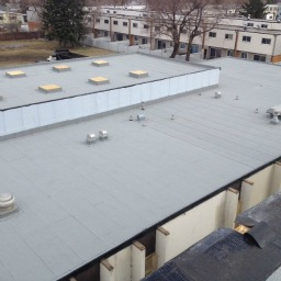 New Flat roof on the Emmanuel Community Church