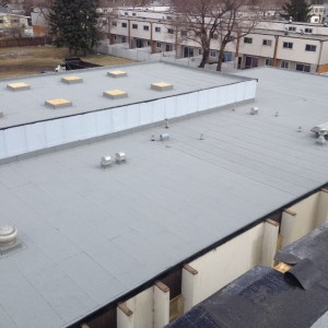 New commercial flat roof on the Emmanuel Community Church – Done for Stonehouse Contracting