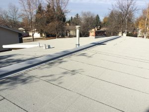 Residential low slope tar and gravel roof replacement in St Albert